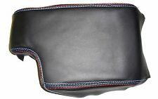 BMW E 46 COVER BLACK LEATHER FOR ARMREST SEAMS M SPORT Made in Italy
