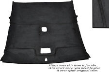 BLACK STITCH ROOF LINING HEADLINING PU SUEDE SKIN COVER FITS NISSAN 200 SX S14
