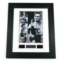 JOHNNY CASH FILM CELLS MUSIC MEMORABILIA STUNNING DISPLAY COUNTRY MUSIC GIFT