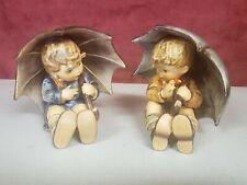 New ListingGoebel Hummel Figurines 152/0A Tmk6 & 152/0B Tmk5 - Umbrella Boy & Girl