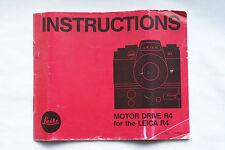 New listing Leitz Leica Motordrive R4 manual