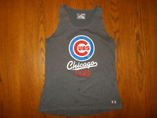 UNDER ARMOUR HEAT GEAR MLB CHICAGO CUBS GRAY RACER BACK TANK TOP GIRLS LARGE