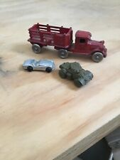 Antique 1920's Cast Iron Delivery Truck VG+++ MILITARY TANK + CAR MFG UNKNOWN