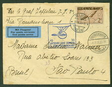 SWITZERLAND, 1933, 3rd So. American Zeppelin Flight, proper cachet