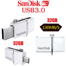 Genuine SanDisk 32GB OTG Ultra Dual Micro USB 3.0 Flash Drive Memory Stick White