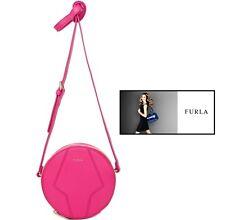 FURLA PERLA MINI Round CROSSBODY shoulder bag in Pinky pink
