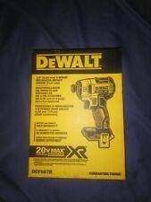 DEWALT DCF887B 20V MAX XR Li-Ion Brushless 0.25-Inch 3-Speed Impact Driver