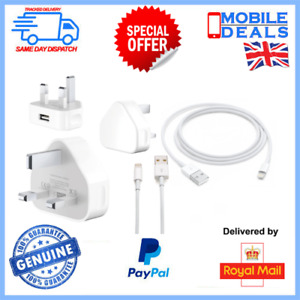 Fast Charger For iPhone X/XR/Xs/Max/8/7/6/5/Plus & SE (Plug and Lead)