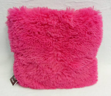 Hot Pink Soft Shaggy Cushion Throw Pillow - 10 Colors