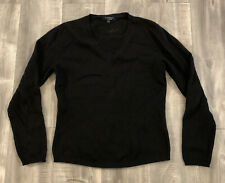 Vintage Burberry London 100% Cashmere Black Sweater Womens Size Small