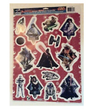 Official Disney Star Wars 14 Static Cling Window Decorations