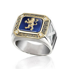Ring Women Men Wedding Jewelry Size 10 Fashion 925 Silver Two Tone Gold White