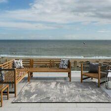 Indoor Outdoor Rugs Flatweave Grey Modern Distressed Al Fresco Easy Clean Mats