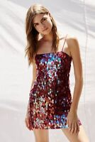 Free People Mermaid Mini Party Dress Embellished Sequins Size: 10 M $300 New