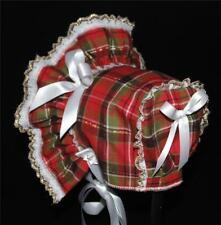 Red Green and Gold Plaid Christmas Bonnet
