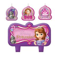 4 Piece Disney Sofia The First Happy Birthday Cake Party Candles