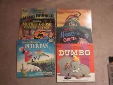 6 lp lot Walt Disney's Dumbo, Peter Pan, Mother Goose, Little Engine That Could