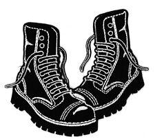 Écusson patche boots Oi Punk Skinhead bottines bottes thermocollable patch
