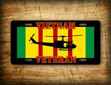 Vietnam Vet HUEY UH-1 License Plate Veteran Helicopter Auto Tag Service Ribbon