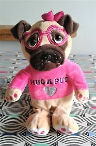 "Hug A Pug 12""  Soft Toy Plush Comforter Pink Top and Hot Bag Inside Excellent"