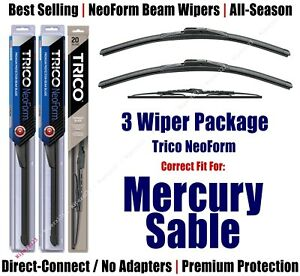 3-Pack Wipers Front & Rear - NeoForm - fit 1989-1995 Mercury Sable 16200x2/30150