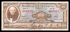 El Banco de Mexico 100 Pesos Serie U 17.1.1945, P-55a. Very Scarce. XF