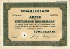 Bank : Commerzbank AG  1941 Hamburg Germany ( a M DAX Company )