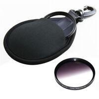 2-Pocket Camera Lens Filter Bag Case Wallet fr CPL MC UV IR 25-77mm 58 67mm Hook