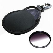 Hot 2-Pocket Camera Lens Filter Bag Case Wallet CPL MC UV IR 25-77mm With Hook