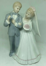 Wedding Cake Bride Groom topper RR Roman Vintage Ceramic Bisque Japan 5.25""