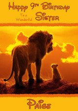 Disney Lion King personalised A5 birthday card - any NAME AGE RELATION