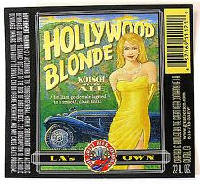 Great Beer Company HOLLYWOOD BLONDE - KOLSCH ALE beer label Gilroy CA 22oz