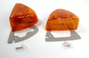 Pair LED Turn Signals w/ Amber Lenses for Peterbilt 378 379 Headlight Side