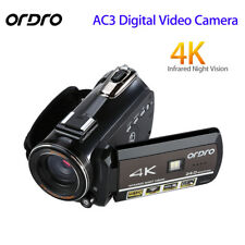 ORDRO AC3 4K Hot Shoe HDMI WIFI 30X Zoom LED 24MP Digital Camera Touch Screen