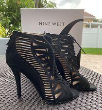 Nine West Black NWAngellica Lace Up Gladiator Sandals 9M