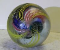 9928m Large 1.53 Inches German Handmade Divided Ribbon Swirl Marble