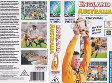 RUGBY UNION ENGLAND VS AUSTRALIA  1991  VIDEO VHS PAL~ A RARE FIND