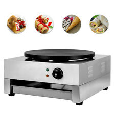"3KW Commercial Electric Crepe Maker Machine 16"" Pancake Kitchen Maker Non Stick"