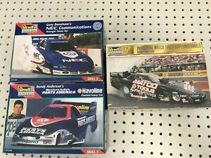 3pc REVELL 1:24 Funny Car Open Box Model Lot Parts Missing Dragster LOOK! NHRA