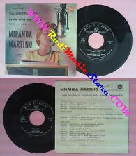 LP 45 7'' MIRANDA MARTINO La vita mi ha dato solo te Cosi'italy RCA no cd mc vhs