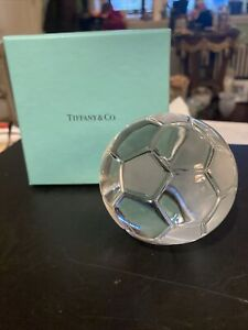 Nwb Crystal Tiffany& Co La Galaxy Soccer Ball Paperweight W Original Box