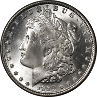 1889-P Morgan Silver Dollar PCGS MS65 Bright White Fantastic Luster - STOCK