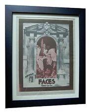 FACES+ROD STEWART+Ooh La La+POSTER+AD+RARE ORIGINAL 1973+FRAMED+FAST GLOBAL SHIP