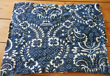 Antique 18thc Early French Indigo Blue Resist Fabric Quilt Piece ~ #2