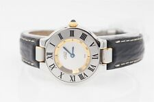NEW OLD STOCK $3000 Cartier 18k Yellow Gold SS Ladies Watch