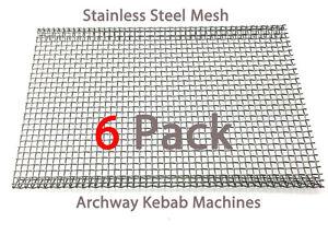 Archwayway Doner Kebab Machine Burner Mesh Heavy Duty Stainless Steel Pack of 6