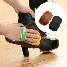 Shoe Boot Care Shining Buffing Brush Leather Polisher Cleaning Glove
