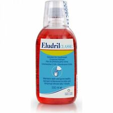 Eludril Classic Mouthwash 500ml (antibacterial & anaesthetic to soothe gums)