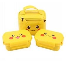 Pokemon Pikachu Character Children Food Container Lunch box Bag Stainless Picnic