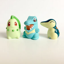 Bandai Pokemon Kids *Chikorita Totodile Cyndaquil* LOT x3 Puppet Figures Japan